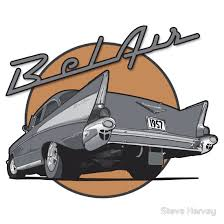 saffrons rule cruising Bel Air 57 chevy