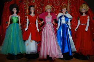 Saffrons rule Barbie formal dresses