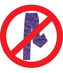 saffrons rule no pants allowed