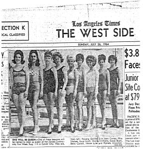 Sharrie 1964 Miss Culver City contest