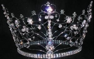 Saffrons rule Beauty_Pageant_Rhinestone_Crown_Tiara