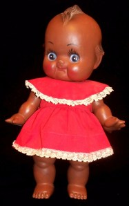 saffrons rule black baby doll