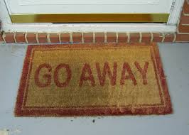 saffrons rule door mat