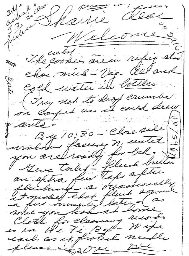 saffrons rule letter from Nana