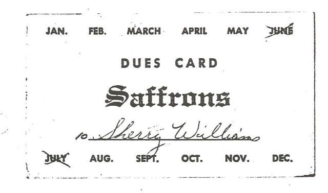 Saffrons Rule card