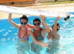 saffrons rule pool surfboard