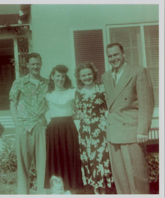 Bill and Pauline Williams with Bill and Mary Stroh, 1948, CA.