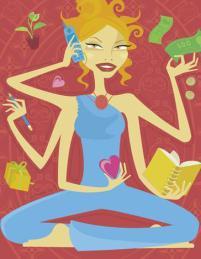 Saffrons rule busy-woman